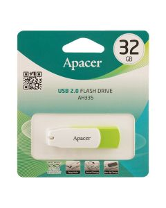 Флешка Apacer 32Gb AH335 Green/White USB 2.0