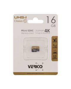 Карта памяти Verico 16GB microSDHC UHS-I Class 10 4K (без адаптера)