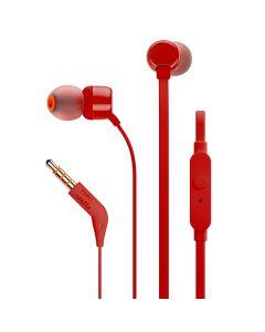 Наушники с микрофоном JBL T110 Red (JBLT110RED)