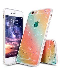 Чехол накладка Protective Shell Case для iPhone X Rainbow