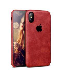 Чехол накладка X-Level PU Vintage для iPhone X Red