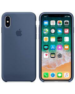 Чехол Soft Touch для Apple iPhone X Blue Cobalt (Original)
