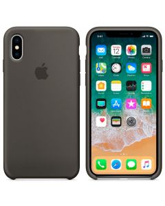 Чехол Soft Touch для Apple iPhone X Dark Olive (Original)