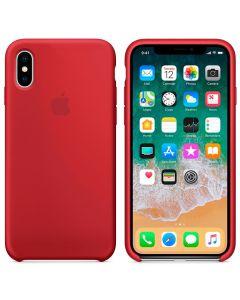 Чехол Soft Touch для Apple iPhone X Red (Original)
