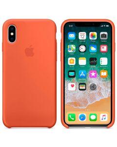 Чехол Soft Touch для Apple iPhone X Spicy Orange (Original)