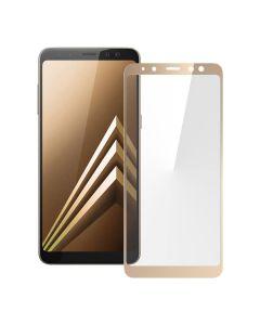 Защитное стекло для Samsung A8-2018/A530 2D Gold