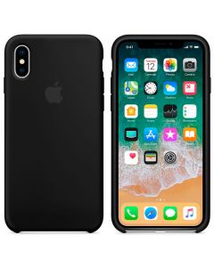 Чехол Soft Touch для Apple iPhone X Black (Original)