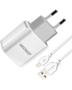 СЗУ Joyroom CA-28 2USB 2A + Lightning cable White