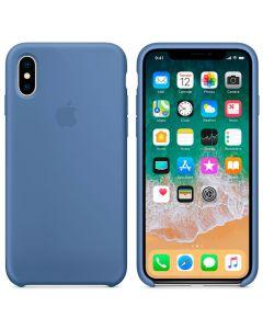 Чехол Soft Touch для Apple iPhone X Denim Blue (Original)