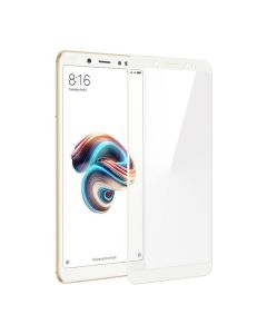 Защитное стекло для Xiaomi Redmi Note 5/Note 5 Pro 2D White (тех.пак)