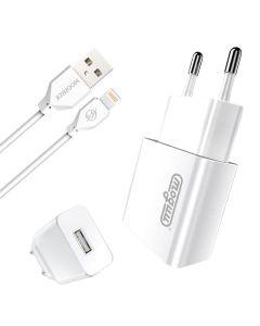 СЗУ Joyroom MGL-001 2.1A + Lightning cable White