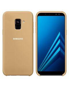 Чехол Original Soft Touch Case for Samsung J6-2018/J600 Gold