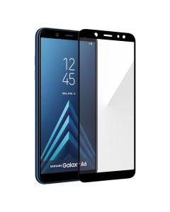 Защитное стекло для Samsung A6 Plus 2018/A605 3D Black (тех.пак)