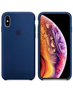 Чехол Soft Touch для Apple iPhone XS Blue Horizon (Original)