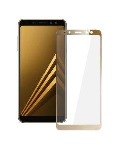 Защитное стекло для Samsung A8-2018/A530 3D Gold