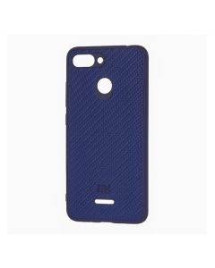 Чехол накладка Carbon для Xiaomi Redmi 6 Dark Blue