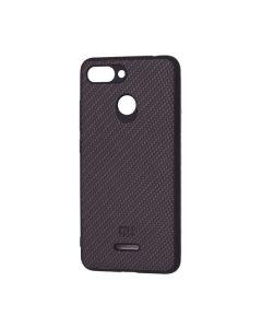 Чехол накладка Carbon для Xiaomi Redmi 6 Black