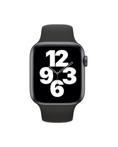 Apple Watch SE GPS 44mm Space Gray Aluminum Case with Black Sport Band (MYDT2)