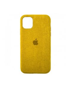 Чехол Alcantara для Apple iPhone 12/12 Pro Yellow
