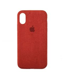 Чехол Alcantara для Apple iPhone XR Red