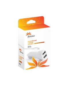 АЗУ Florence 2in1 2USB 2.1A Lightning White (CC21-IPH6)