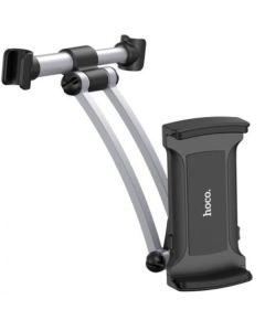 Автодержатель для телефона и планшета Hoco CA62 Aluminum Rear Pillow In-car Black