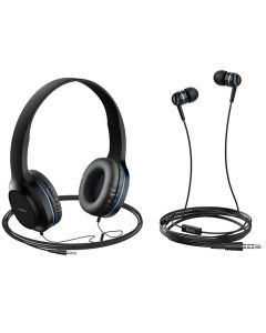 Наушники Hoco W24 (накладные и вакуумные) Black/Blue