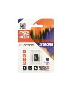 Карта памяти Mibrand 32 GB microSDHC Class 10 UHS-I MICDHU1/32GB