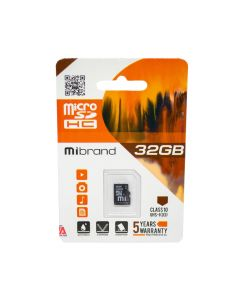 Карта памяти Mibrand 32GB microSDHC Class 10 UHS-I U3 (без адаптера)