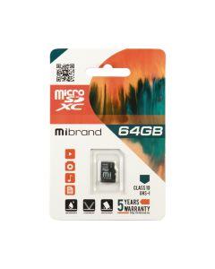 Карта памяти Mibrand 64GB microSDXC Class 10 UHS-I (без адаптера)