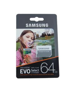 Карта памяти Samsung 64 GB microSDXC Class 10 UHS-I U3 EVO + SD Adapter MB-MP64GA