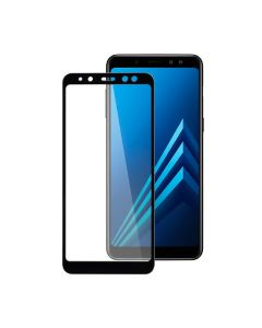 Защитное стекло для Samsung A8 Plus 2018/A730 3D Black (тех.пак)