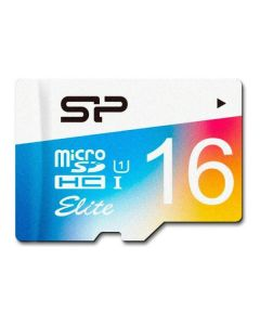 Карта памяти Silicon Power 16 GB microSDHC Class 10 UHS-I Elite Color SP016GBSTHBU1V20