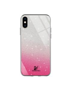 Чехол Swarovski Case для iPhone  X/XS Pink/Violet