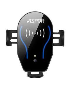 Автодержатель для телефона Wireless Aspor X8 Video 5V/2A Black