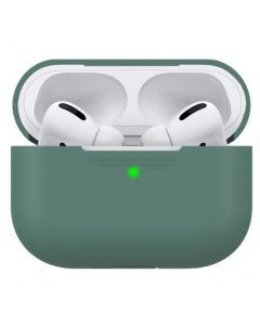 Футляр для наушников AirPods  Pro AhaStyle Full Cover Silicone Case Midnight Green