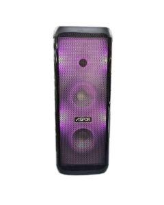 Портативная колонка Aspor A669 Black + 2 микрофона