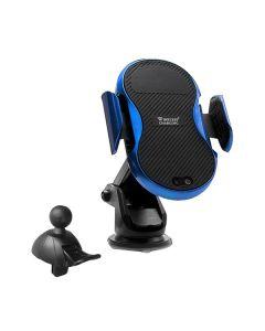 Автодержатель для телефона Wireless WUW W10 Qi 10W Black/Blue