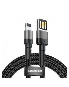Кабель Baseus Cafule Special Edition Cable USB Lightning 2.4A 1m Black/Grey