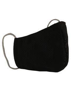 Многоразовая защитная маска для лица Sport черная (размер M)