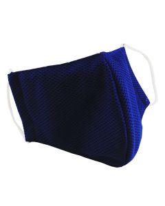 Многоразовая защитная маска для лица Sport синяя (размер S)