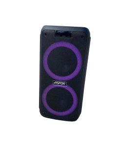 Портативная колонка Aspor A668 Black + 2 микрофона
