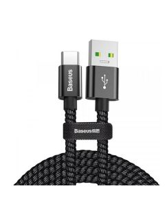 Кабель Baseus Double Fast Charging Cable USB Type-C 5A 1m Black