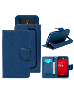 Чехол книжка Book Cover Universal Goospery Fancy Diary 5.7 дюйма Dark Blue/Green