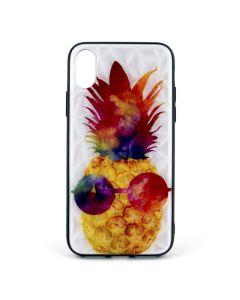 Чехол накладка Crazy Prism для iPhone X/XS Pineapple