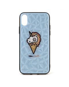 Чехол накладка Crazy Prism для iPhone X/XS Unicorn