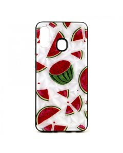 Чехол накладка Crazy Prism для Samsung A20-2019/A205 Watermelon