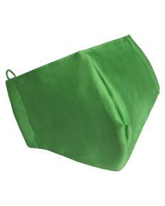 Многоразовая защитная маска для лица зеленая (размер XS)