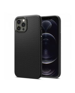Чехол Spigen для iPhone 12 Pro Max Liquid Air Matte Black