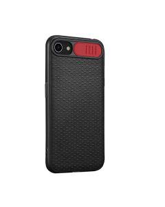 Чехол накладка Camshield TPU для iPhone 7/8/SE 2020 Black/Red